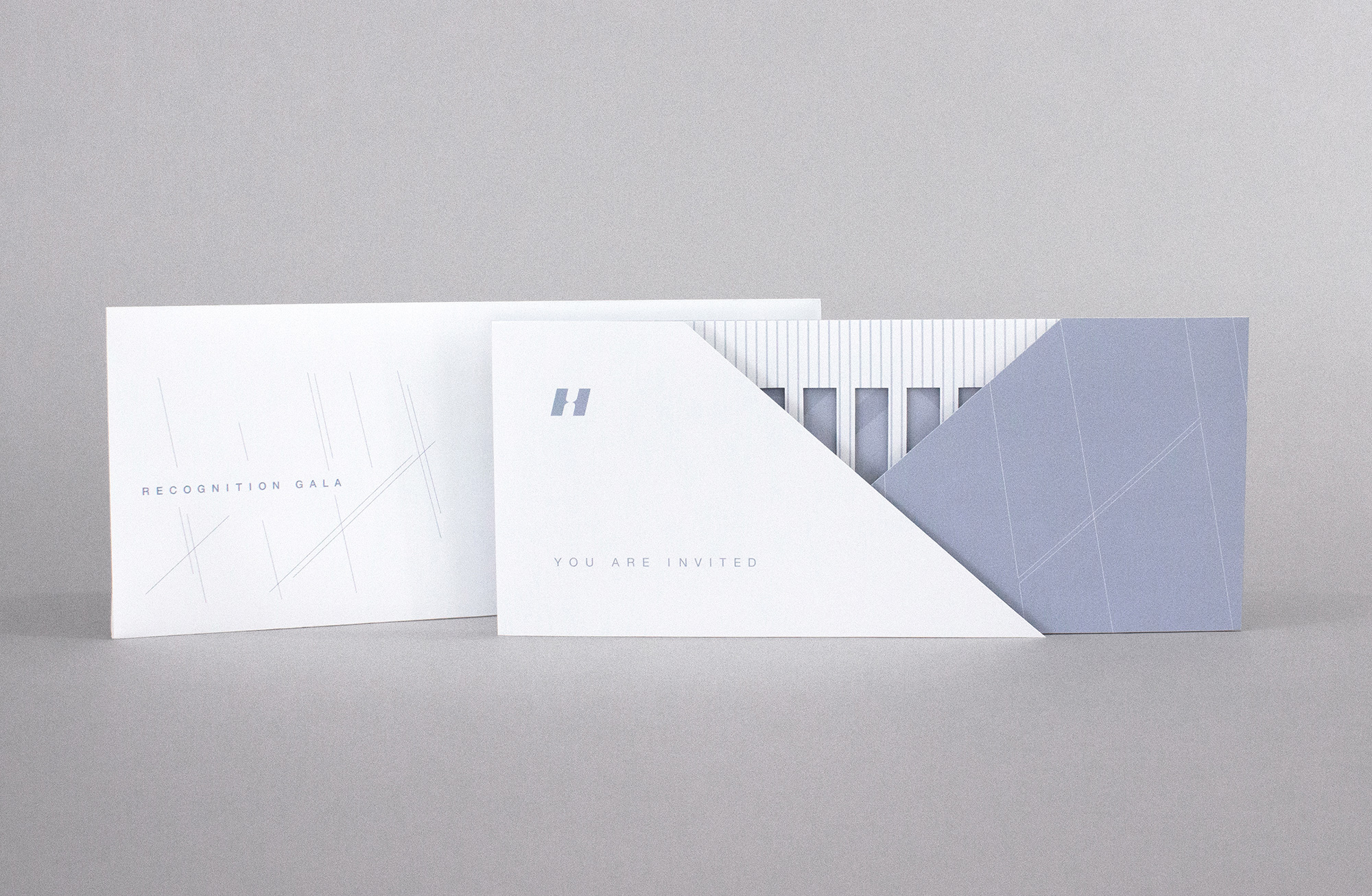 Whitney Museum hospital gala event invitation branding and design with unique structure