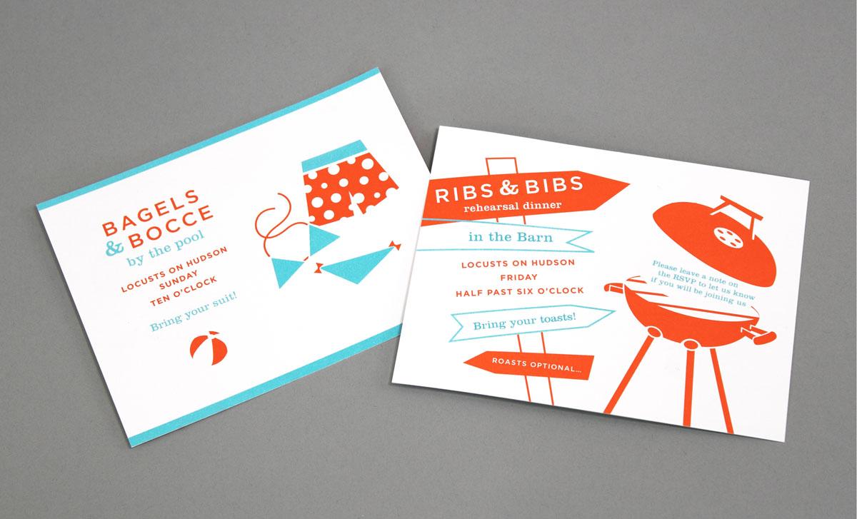 colorful wedding invitation branding