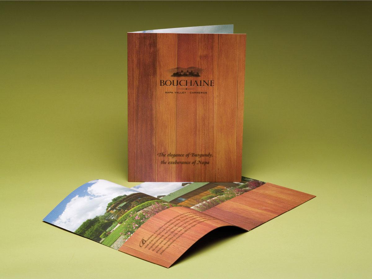vineyard winery press kit folder design with wood texture