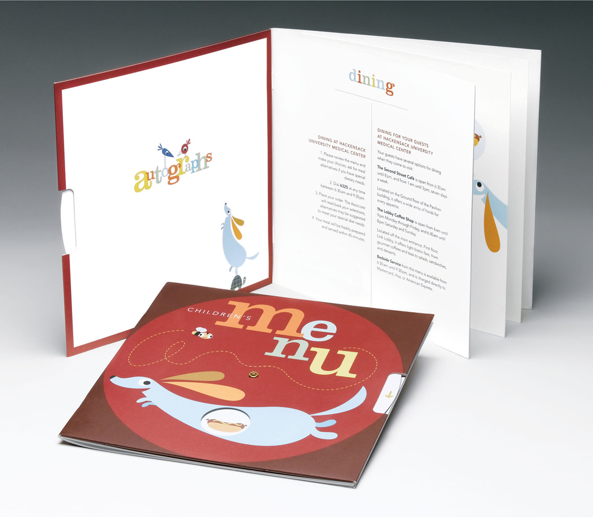 unique children's menu design