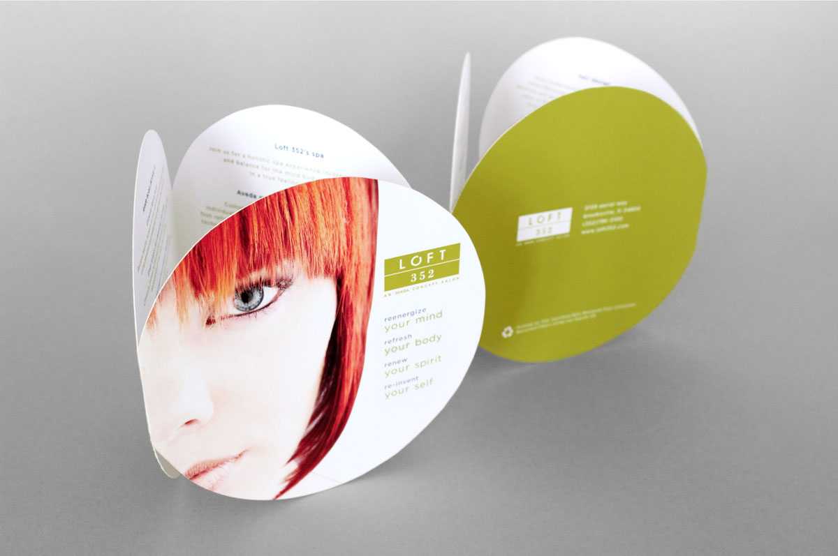 hair salon menu design and branding