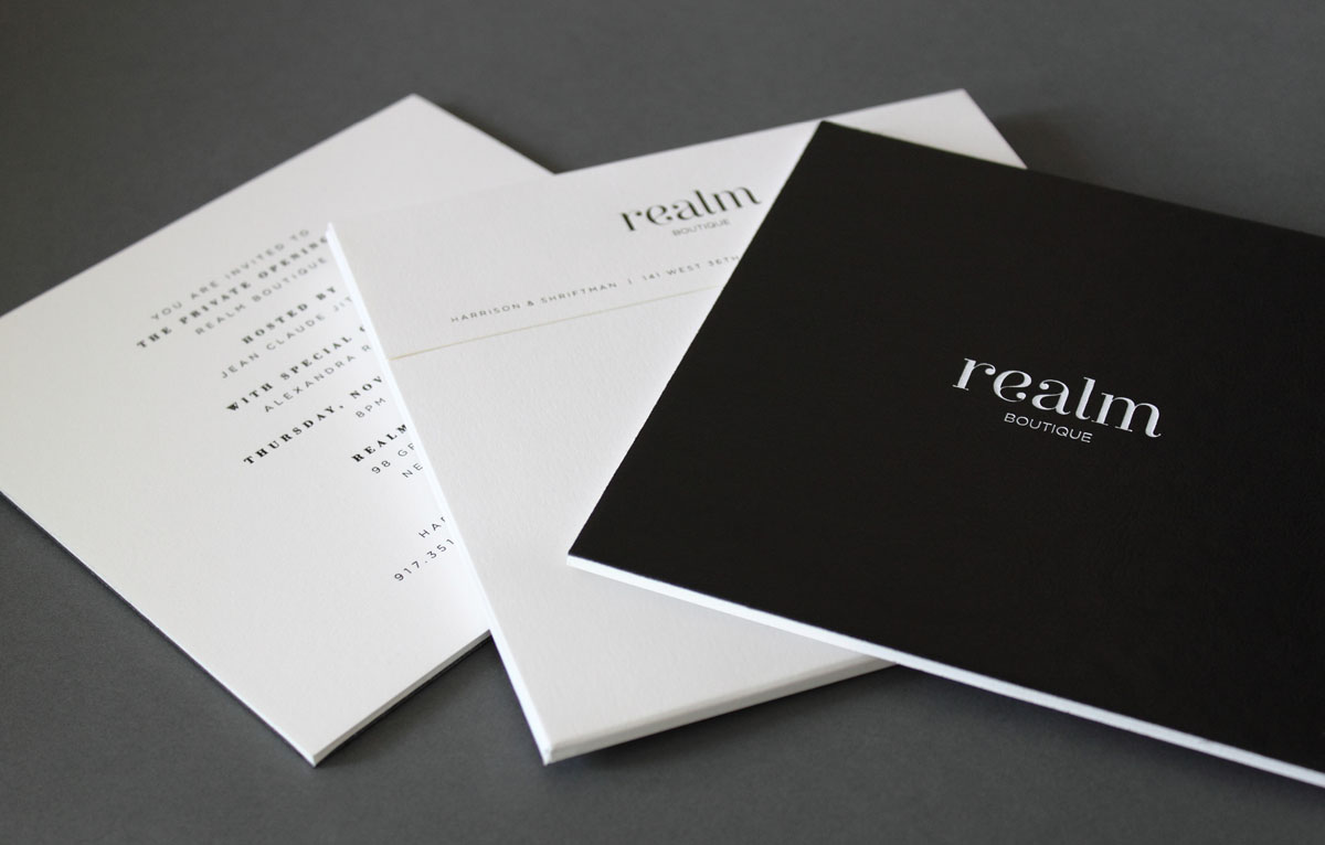 black and white leather luxury invitation design