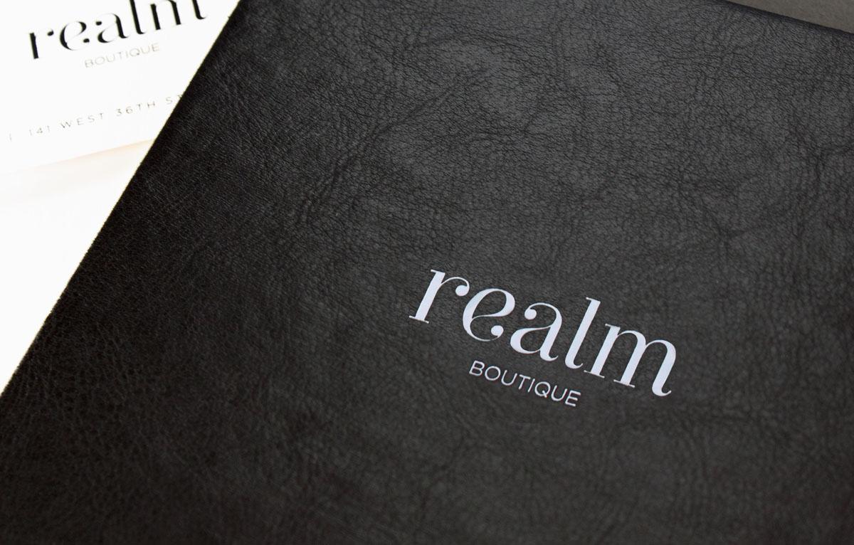 black leather luxury invitation design