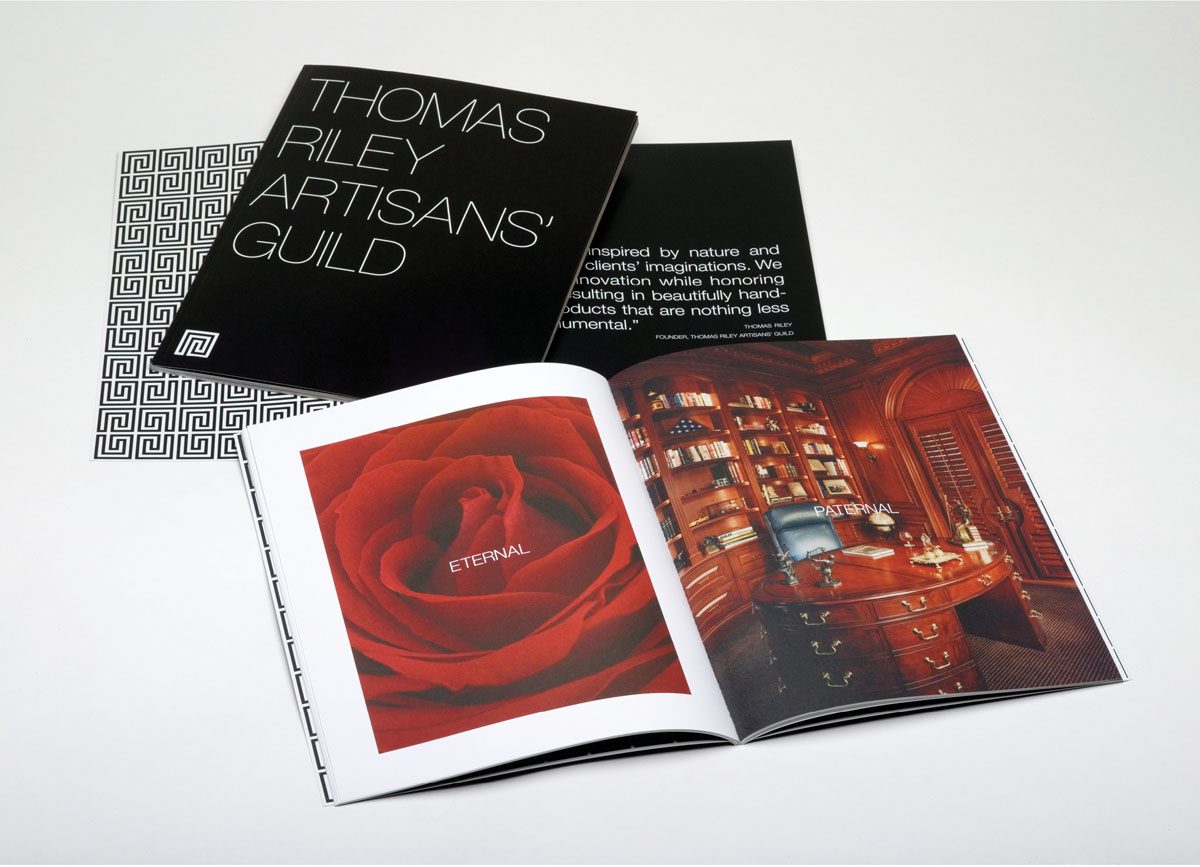 furniture and architecture brochure branding