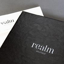 leather stamped invitation design