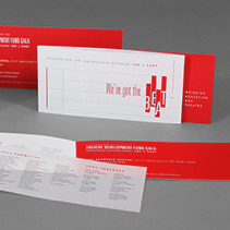 TDF Gala Event Invitation Branding