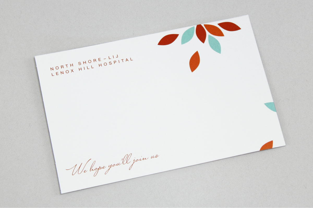 Gala Fundraising Event Notecard for LIJ Lenox Hill Hospital Autumn Ball
