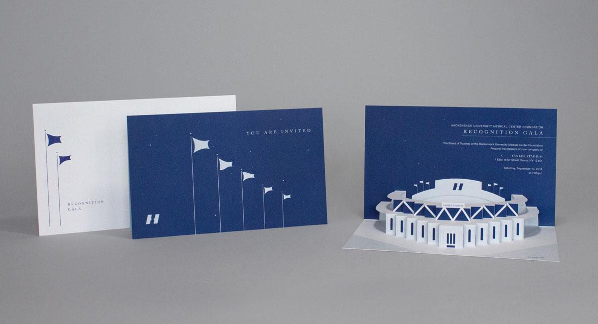 pop-up gala invitation design with unique structure