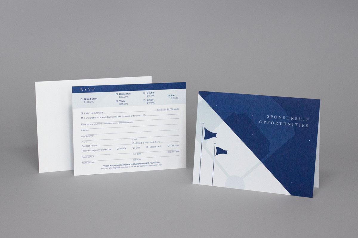 gala event branding rsvp card