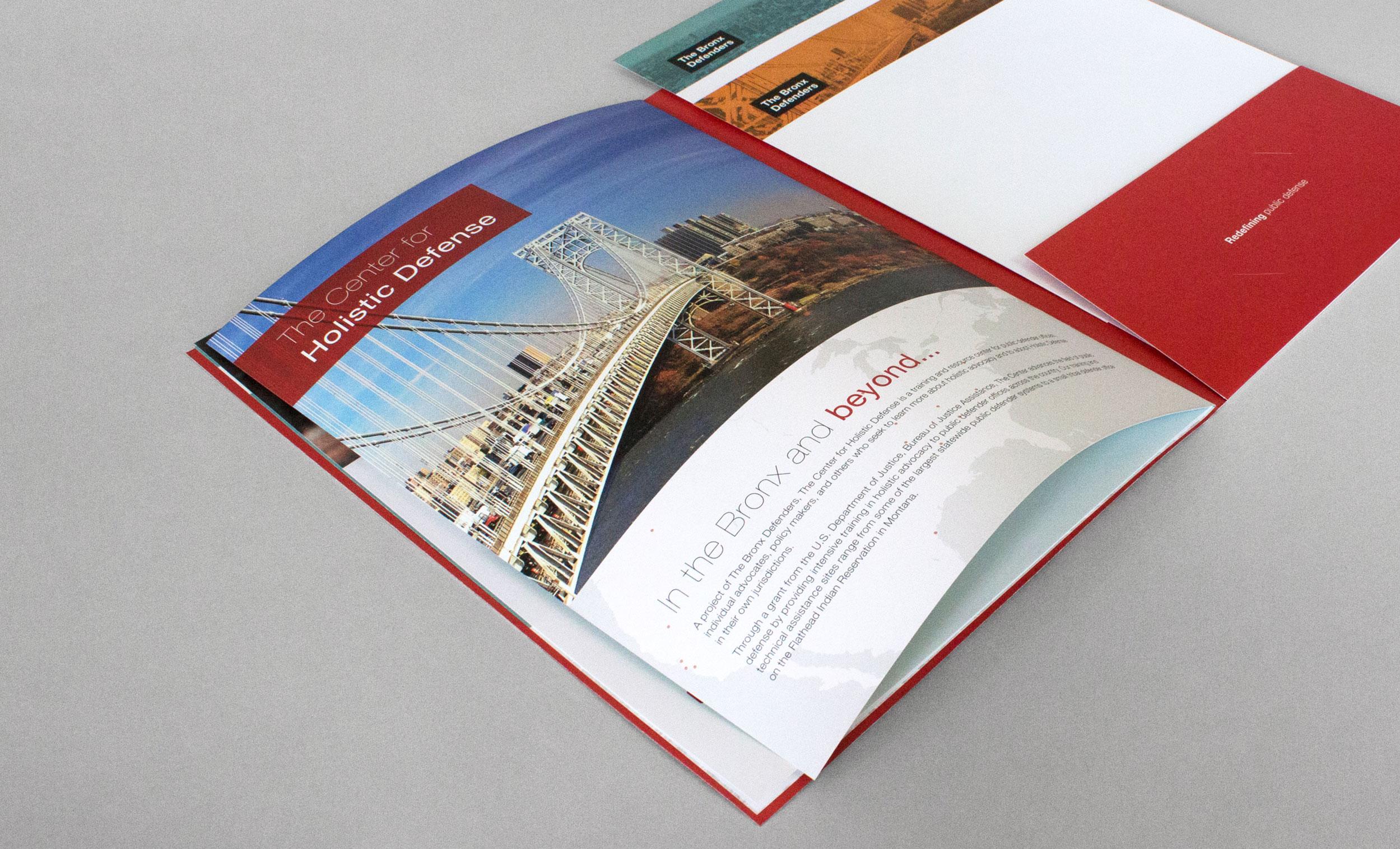 Bronx Defenders Pocket Folder Brochure Design