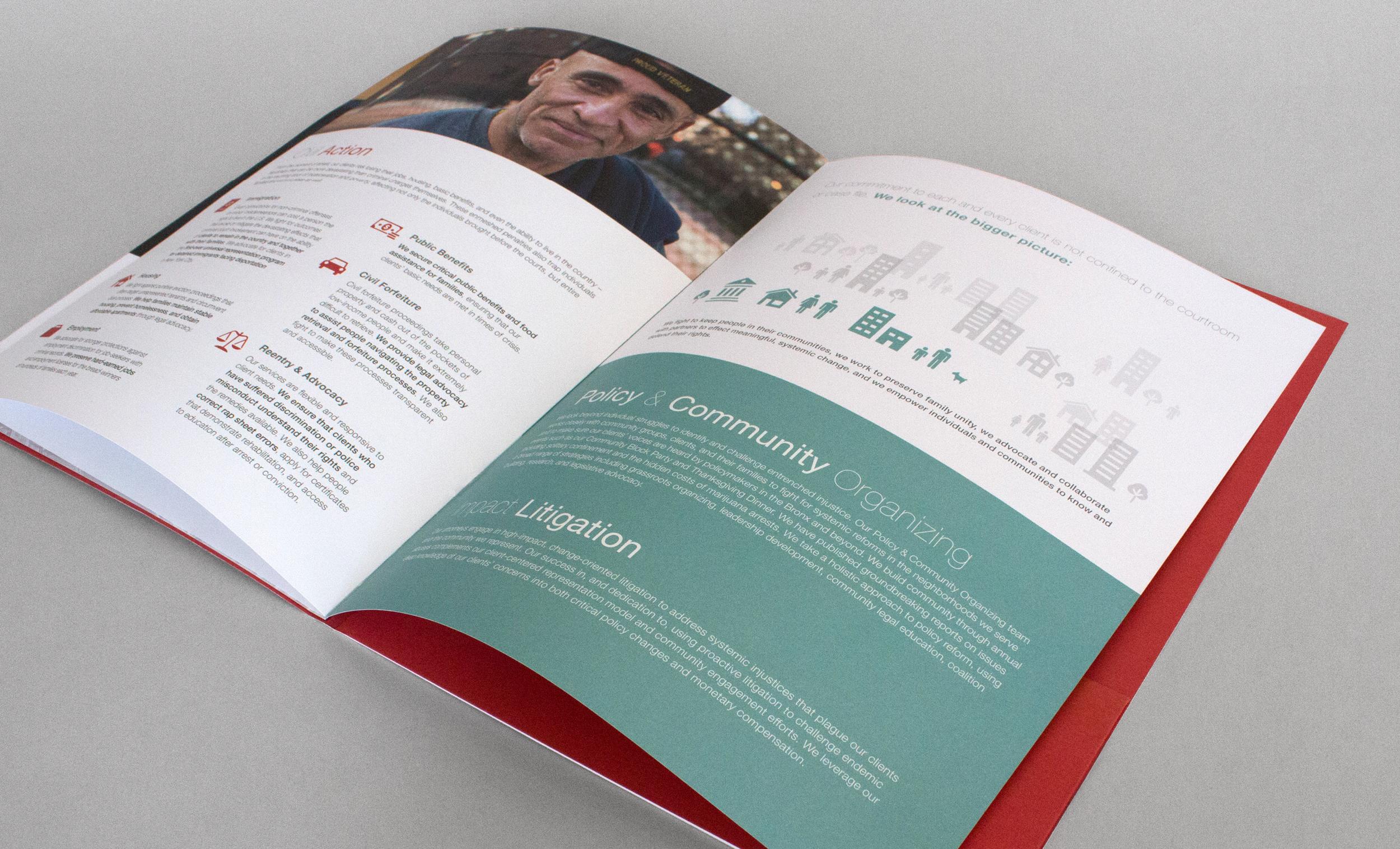 Bronx Defenders Brochure Design with Infographics